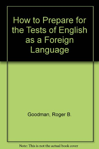 9780070237612: How to Prepare for the Test of English As a Foreign Language