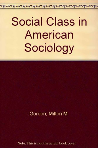 9780070237865: Social Class in American Sociology