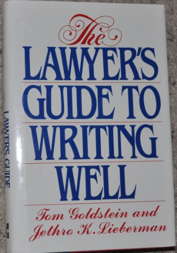 9780070238039: Lawyer'S Guide to Writting Well