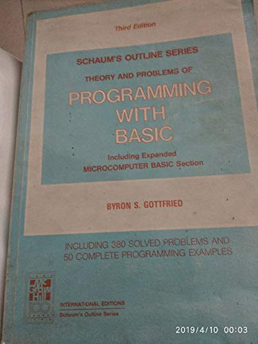9780070238756: Programming with BASIC (Schaum's Outline Series)