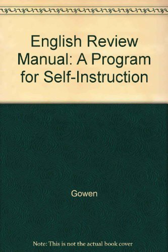 9780070238954: English Review Manual: A Program for Self-Instruction