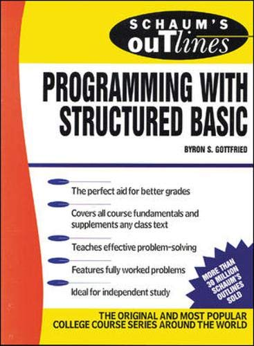 9780070238992: Schaum's Outline of Programming with Structured BASIC