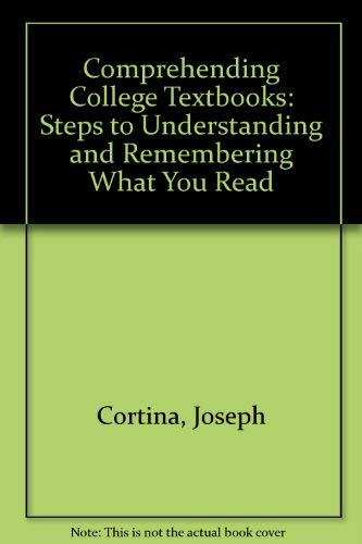 9780070239111: Comprehending College Textbooks: Steps to Understanding and Remembering What You Read