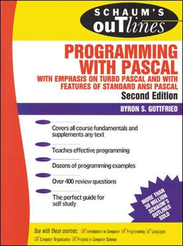 9780070239241: Schaum's Outline of Programming with Pascal