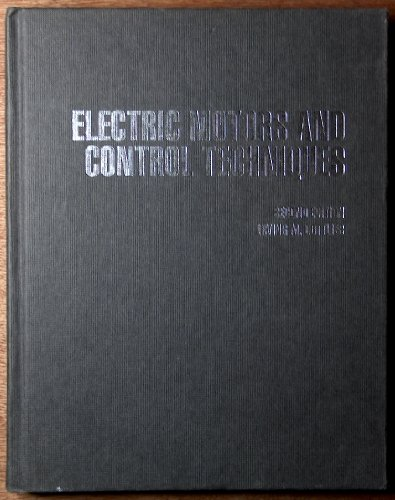 9780070240117: Electric Motors and Control Techniques