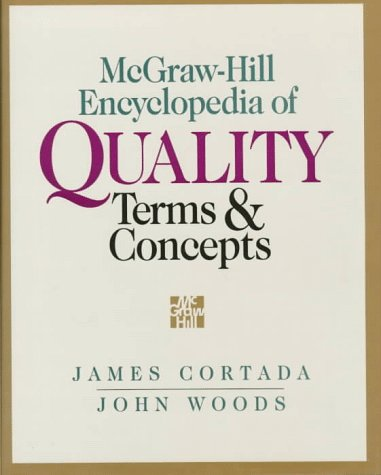 9780070240995: McGraw-Hill Encyclopedia of Quality Terms and Concepts