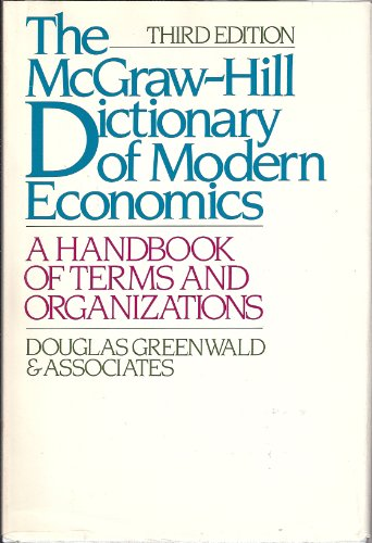 9780070243873: Concise Dictionary of Modern Economics: A Handbook of Terms and Organizations