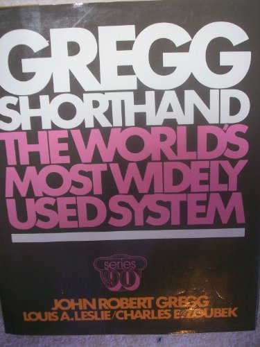 9780070244900: Gregg Shorthand, Series 90