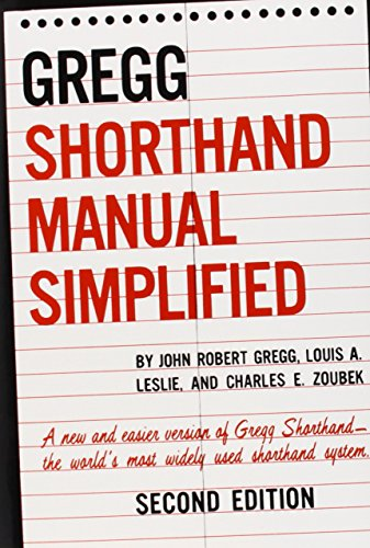 9780070245488: The GREGG Shorthand Manual Simplified