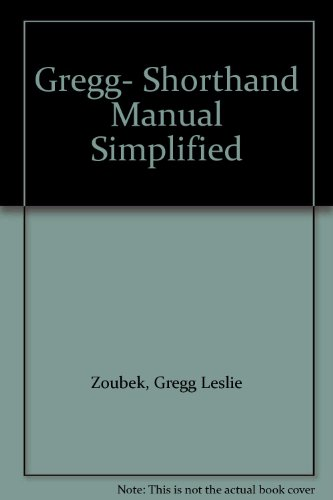 9780070245518: Gregg Shorthand Manual Simplified: Student's Book