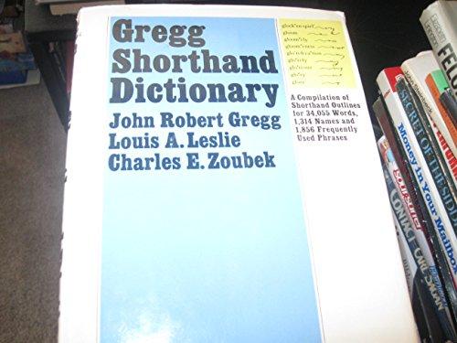 9780070246317: Gregg Shorthand Dictionary (Diamond jubilee series)