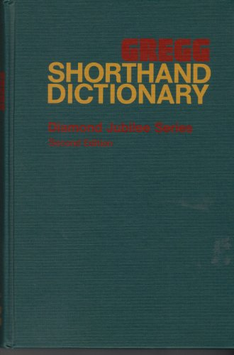 9780070246324: Gregg Shorthand Dictionary (Diamond jubilee series)