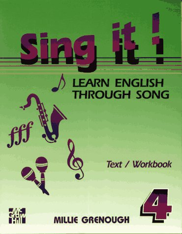9780070247109: Sing It! Learn English Through Song -Level 4 Text/Workbook
