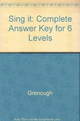 9780070247635: Sing it: Complete Answer Key for 6 Levels
