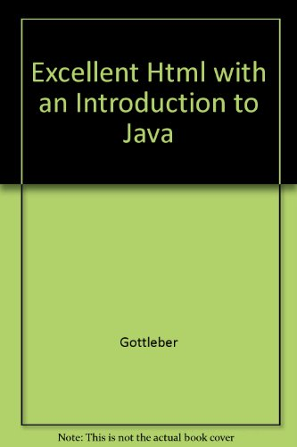 9780070247734: Excellent Html with an Introduction to Java