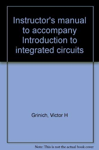 9780070248762: Instructor's manual to accompany Introduction to integrated circuits
