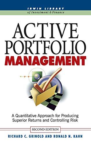 9780070248823: Active Portfolio Management: A Quantitative Approach for Producing Superior Returns and Controlling Risk