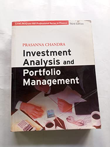 9780070249073: Investment Analysis and Portfolio Management