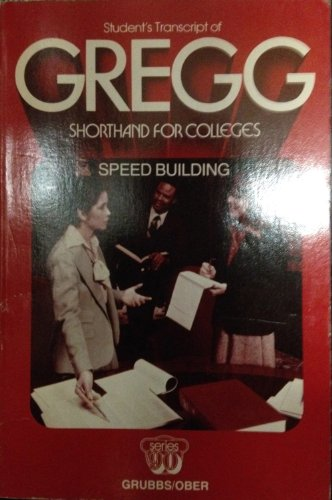 9780070250567: Student's transcript of Gregg shorthand for colleges: Speed building