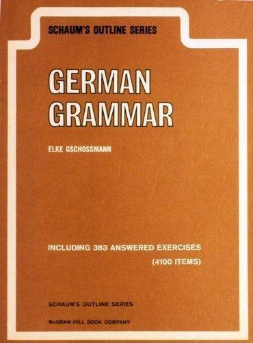 9780070250901: Schaum's outline of German grammar (Schaum's outline series)