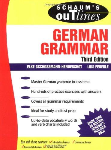9780070251342: Schaum's Outline of German Grammar