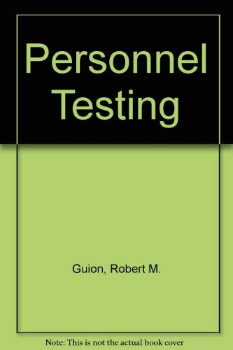 9780070251700: Personnel Testing.