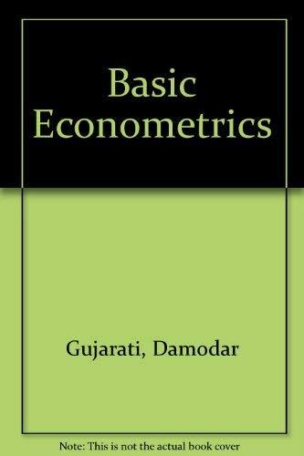 Basic Econometrics. 2nd Edition.: Gujarati, Damodar N.