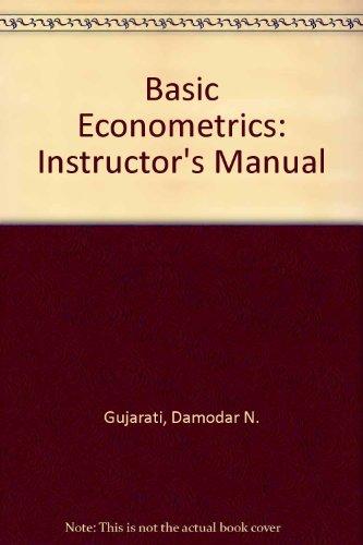 9780070251915: Basic Econometrics: Instructor's Manual