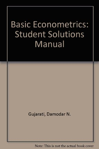 9780070251922: Basic Econometrics: Student Solutions Manual