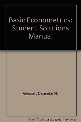 9780070251922: Basic Econometrics: Student Solutions Manual