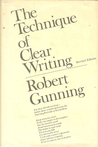 9780070252066: Technique of Clear Writing