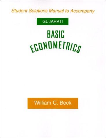 9780070252165: Basic Econometrics (Student Solution Manual)