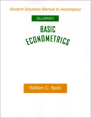 9780070252165: Basic Econometrics (Student Solution Manual)