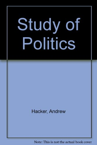 9780070253940: The Study of Politics: The Western Tradition and American Origins (McGraw-Hill Communications Series)