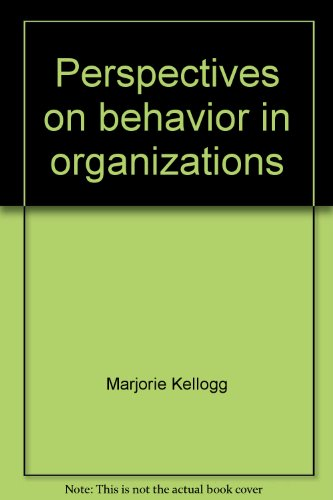 9780070254138: Perspectives on Behaviour in Organizations