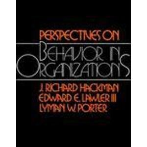 9780070254145: Perspectives on Behaviour in Organizations