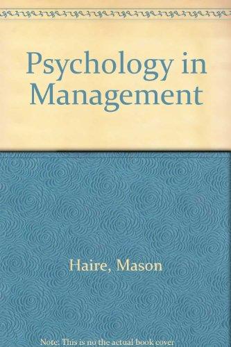 9780070255166: Psychology in Management