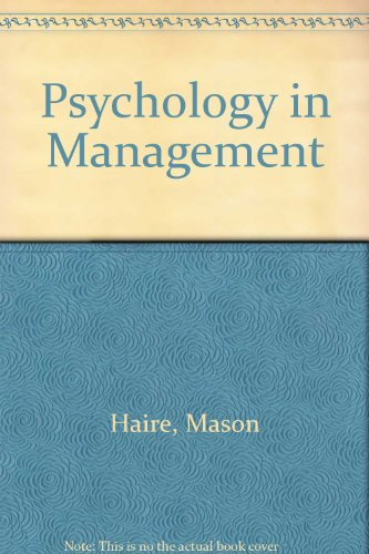9780070255166: Psychology in Management