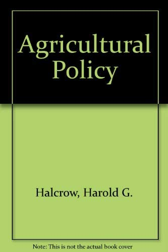 9780070255623: Agricultural Policy