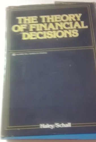 9780070255685: Theory of Financial Decisions (McGraw-Hill series in finance)
