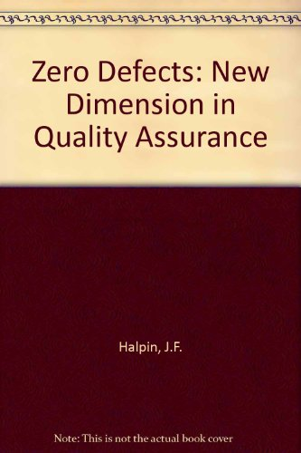 9780070256194: Zero defects : a new dimension in quality assurance