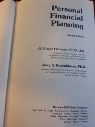 9780070256507: Personal Financial Planning -Wb/29