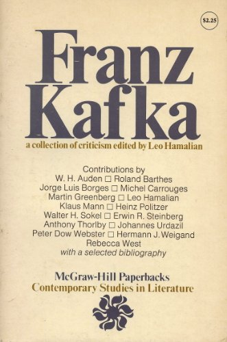 9780070257023: Franz Kafka: A Collection of Criticism (Contemporary Studies in Literature)