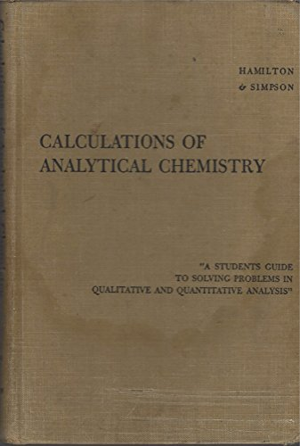 9780070257337: Calculations of Analytical Chemistry