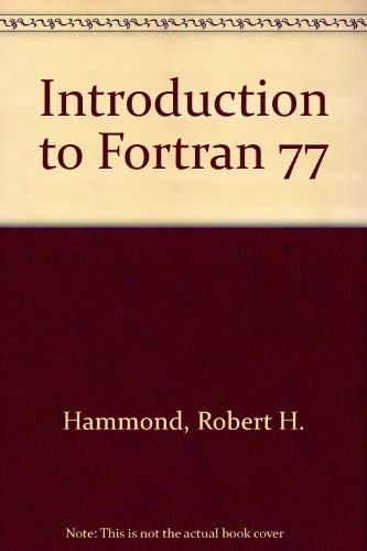 9780070259126: Introduction to Fortran 77 and the Personal Computer