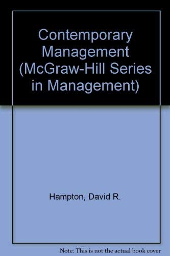 9780070259300: Contemporary management (McGraw-Hill series in management)