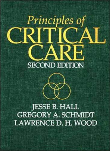 9780070259348: Principles of Critical Care