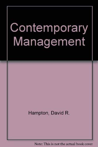9780070259355: Contemporary Management
