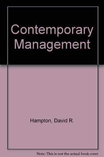 9780070259355: Contemporary Management