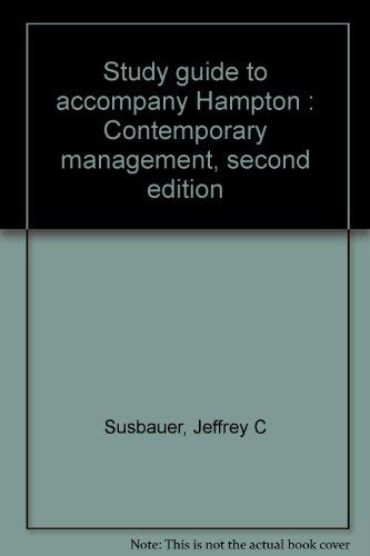 Study guide to accompany Hampton : Contemporary: Susbauer, Jeffrey C
